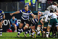 Ross Batty of Bath Rugby looks on in defence. Aviva Premiership match, between Bath Rugby and Northampton Saints on February 10, 2017 at the Recreation Ground in Bath, England. Photo by: Patrick Khachfe / Onside Images
