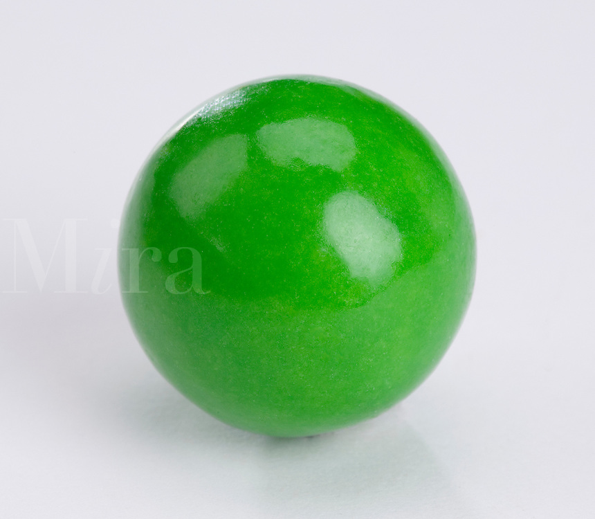 Single large green bubble gum bal