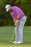 Graeme McDowell (NIR) watches his putt on 10 during day 2 of the Valero Texas Open, at the TPC San Antonio Oaks Course, San Antonio, Texas, USA. 4/5/2019.<br /> Picture: Golffile | Ken Murray<br /> <br /> <br /> All photo usage must carry mandatory copyright credit (&copy; Golffile | Ken Murray)