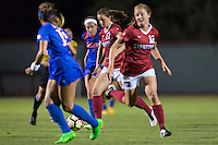 Stanford, CA - August 26, 2016:  Andi Sullivan, Kyra Carusa at Laird Q. Cagan Stadium against the University of Florida. The Cardinal defeated the Gators 1-0, scoring the game's only goal in the first overtime period.,