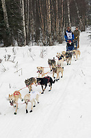 Scott Smith w/Iditarider on Trail 2005 Iditarod Ceremonial Start near Campbell Airstrip Alaska SC