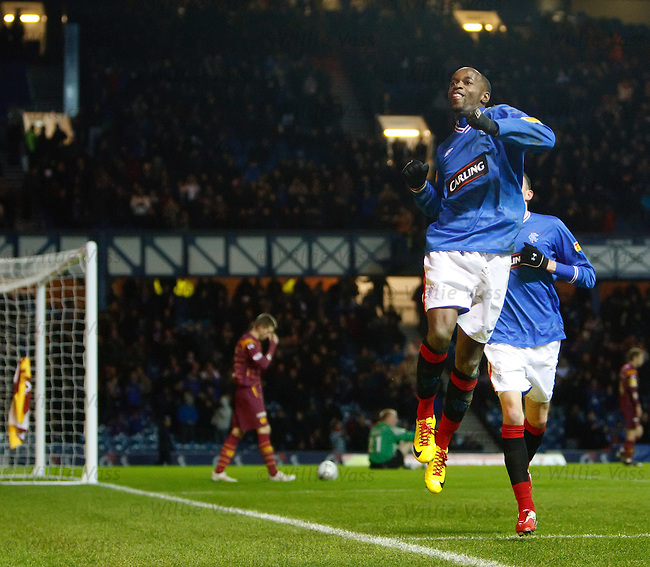 DaMarcus Beasley scores goal no 5 for Rangers and celebrates