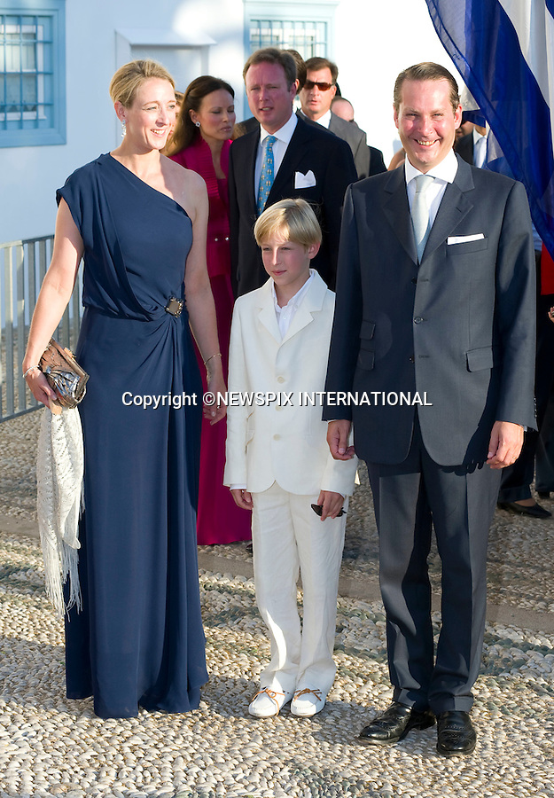 "Princess Alexandra zu Sayn-Wittgenstein-Berleburg and Count Jefferson_.The Wedding of Prince Nikolaos and Tatiana Blatnik attended by many members of European Royalty at St Nikolaos Church on the Island of Spetses_Grecce_24/08/2010.Mandatory Credit Photo: ©DIAS-NEWSPIX INTERNATIONAL..**ALL FEES PAYABLE TO: ""NEWSPIX INTERNATIONAL""**..IMMEDIATE CONFIRMATION OF USAGE REQUIRED:.Newspix International, 31 Chinnery Hill, Bishop's Stortford, ENGLAND CM23 3PS.Tel:+441279 324672  ; Fax: +441279656877.Mobile:  07775681153.e-mail: info@newspixinternational.co.uk"