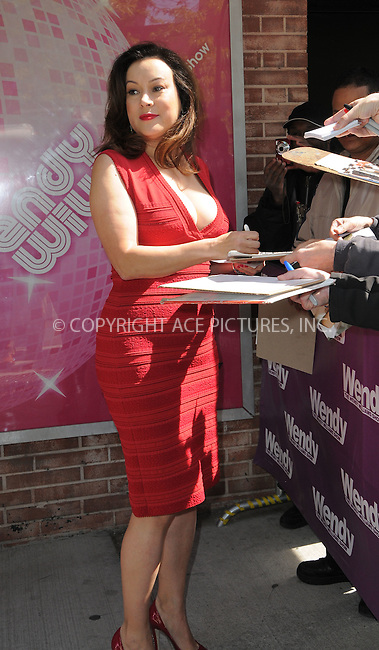 WWW.ACEPIXS.COM . . . . .  ....April 30 2012, New York City....Actress Jennifer Tilly made an appearance at the Wendy Williams show on April 30 2012 in New York City....Please byline: CURTIS MEANS - ACE PICTURES.... *** ***..Ace Pictures, Inc:  ..Philip Vaughan (212) 243-8787 or (646) 769 0430..e-mail: info@acepixs.com..web: http://www.acepixs.com