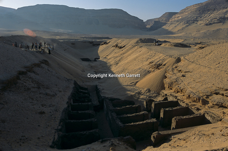 Abydos, scenic, funerary enclosures, dynasties 1-3,  ca 2950-2575 B.C., Early dynastic.