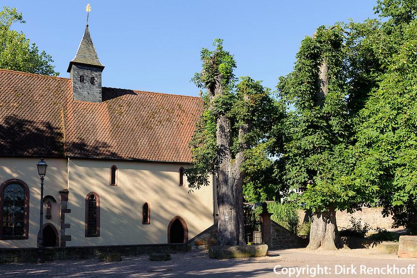 spätromanische St. Anna-Kappelle (12.Jh.) in Obernburg am Main, Bayern, Deutschland