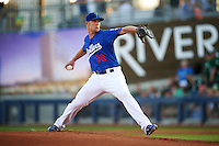 Tulsa Drillers pitcher Chris Anderson (32) delivers a pitch during a game against the Midland RockHounds on June 2, 2015 at Oneok Field in Tulsa, Oklahoma.  Midland defeated Tulsa 6-5.  (Mike Janes/Four Seam Images)