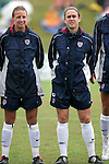 Aly Wagner (l) and Heather O'Reilly (r), of the United States, on Sunday June 26th, 2005, during an international friendly soccer match at Virginia Beach Sportsplex in Virginia Beach, Virginia. The United States won the game 2-0.