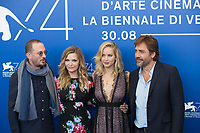 Michelle Pfeiffer, Jennifer Lawrence, Darren Aronofsky, Javier Bardem at the &quot;Mother!&quot; photocall, 74th Venice Film Festival in Italy on 5 September 2017.<br /> <br /> Photo: Kristina Afanasyeva/Featureflash/SilverHub<br /> 0208 004 5359<br /> sales@silverhubmedia.com