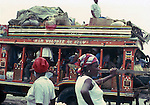 Crowded bus.Images of the capital,Port au Prince, Haiti 1975