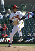 April 24, 2004:  Pitcher Willie Eyre of the Rochester Red Wings, Triple-A International League affiliate of the Minnesota Twins, during a game at Frontier Field in Rochester, NY.  Photo by:  Mike Janes/Four Seam Images