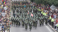 BOGOTÁ-COLOMBIA-20-JULIO-2013.Desfile Millitar conmemorando los 203 años de independencia de Colombia por la Avenida 68 ,desfilaron las cuatro armas de las Fuerzas Armadas :Ejército,Armada ,Fuerza Aérea y Policia . Foto :Felipe Caicedo /Vizzorimage / Staff<br /> Millitary parade commemorating the 203 years of independence from Colombia on Avenida 68, paraded the four arms of the Armed Forces: Army, Navy, Air Force and Police. <br /> . Photo: VizzorImage/ Felipe Caicedo/ STAFF