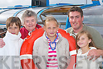 CRUISE: Children from Chernobyl, Ania, Nastia and Olia, with Betty Crosbie (Killarney.branch of Chernobyl Childrens Fund) and Skipper Rory ODonoghue who went on a.cruise on the Lakes of Killarney last Tuesday evening.