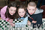 MEMBERS: Members of the Ballyduff Team at the Community Games Draughts Competition in St. Michaels College Listowel on Sunday were Katie Falvey, Abbeydorney, Clodagh Walsh and Gerard OConnor, Ballyduff..