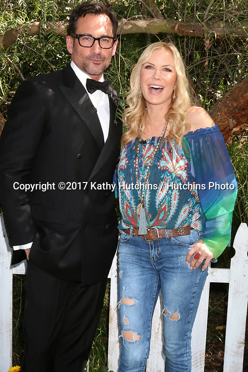 """LOS ANGELES - APR 14:  Lawrence Zarian, Katherine Kelly Lang at the """"Home and Family"""" Celebrates """"Bold and Beautiful's"""" 30 Years at Universal Studios Back Lot on April 14, 2017 in Los Angeles, CA"""