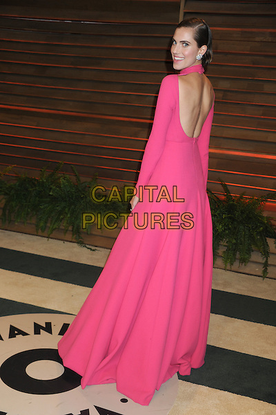 WEST HOLLYWOOD, CA - MARCH 2: Allison Williams at the 2014 Vanity Fair Oscar Party in West Hollywood, California on March 2, 2014. <br /> CAP/MPI/mpi20<br /> &copy;mpi01/MediaPunch/Capital Pictures