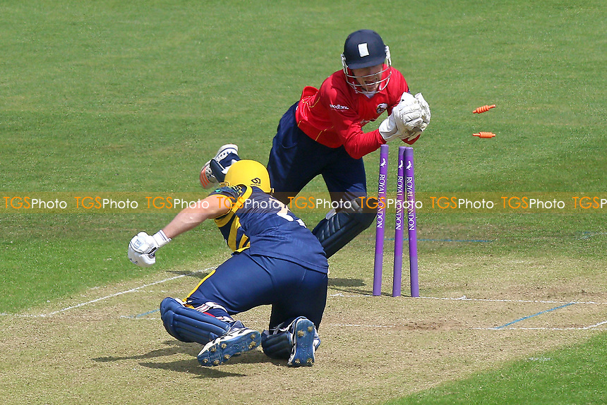 Adam Wheater of Essex completes the stumping of Will Bragg from the bowling of Ashar Zaidi during Glamorgan vs Essex Eagles, Royal London One-Day Cup Cricket at the SSE SWALEC Stadium on 7th May 2017