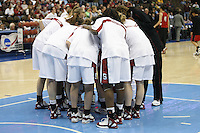 18 March 2006: Krista Rappahahn, Brooke Smith, Eziamaka Okafor, Shelley Nweke and the team during Stanford's 72-45 win over Southeast Missouri State in the first round of the NCAA Women's Basketball championships at the Pepsi Center in Denver, CO.