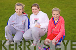 Local girls Laura Curry, Aisling O'Shea and Moly Denihan enjoying the Coiste na nOg fun day hosted by Athea GAA last Sunday afternoon,