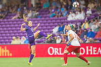Orlando, FL - Saturday July 01, 2017: Rachel Hill, Julie Ertz during a regular season National Women's Soccer League (NWSL) match between the Orlando Pride and the Chicago Red Stars at Orlando City Stadium.