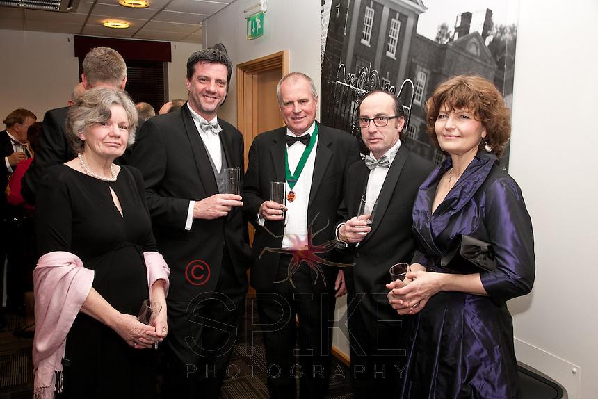 Dressed to impress: left to right are Jenny Britten, Stef Bulcke, John Britten, Henri D'Haenens and Teresa Bastow