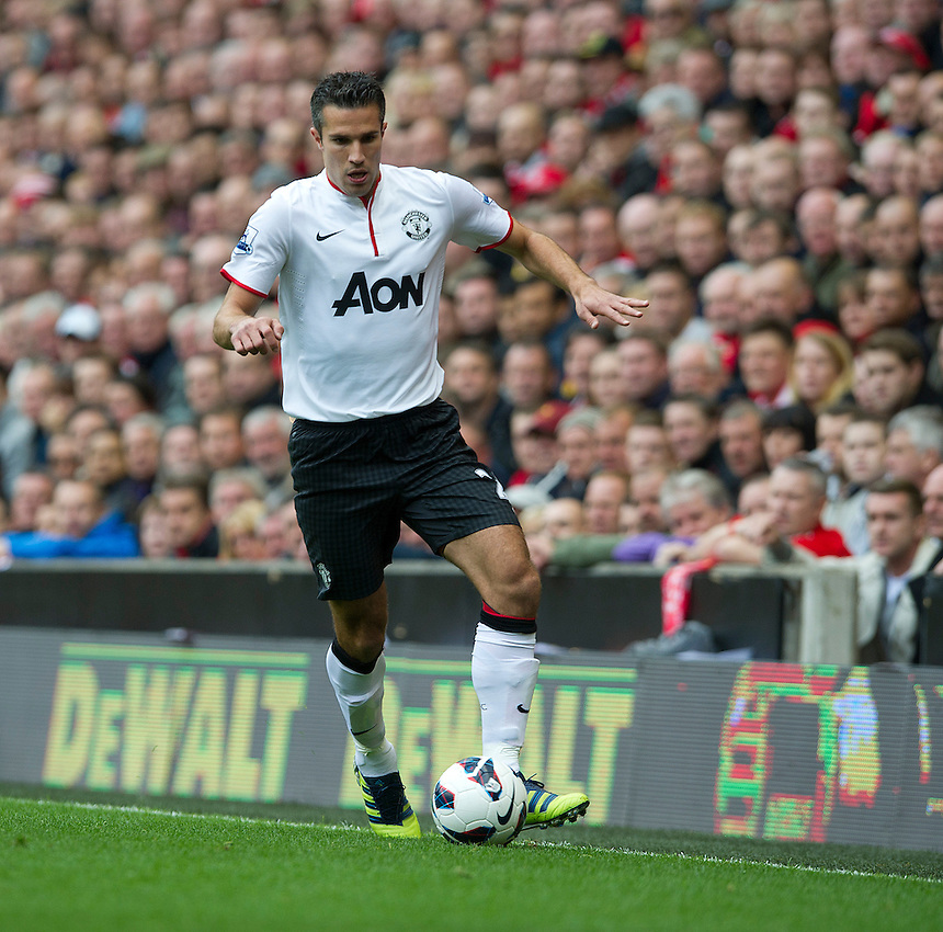 Manchester United's Robin van Persie ..Football - Barclays Premiership - Liverpool v Manchester United - Sunday 23rd September 2012 - Anfield - Liverpool..