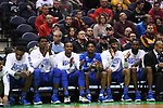 MILWAUKEE, WI - MARCH 16:  The Middle Tennessee Blue Raiders bench applauds during the second half of the 2017 NCAA Men's Basketball Tournament held at BMO Harris Bradley Center on March 16, 2017 in Milwaukee, Wisconsin. (Photo by Jamie Schwaberow/NCAA Photos via Getty Images)