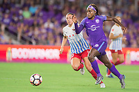 Orlando, FL - Saturday August 05, 2017: Vanessa DiBernardo, Chioma Ubogagu during a regular season National Women's Soccer League (NWSL) match between the Orlando Pride and the Chicago Red Stars at Orlando City Stadium.