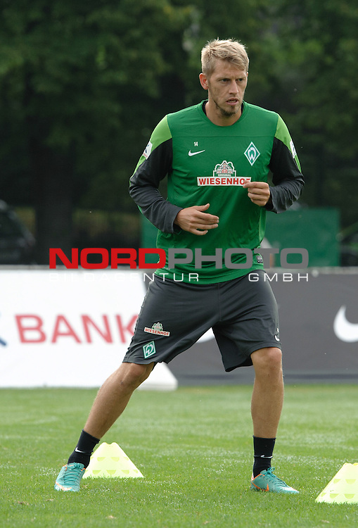 25.07.2013, Sportplatz, Blankenhain, GER, 1.FBL, Trainingslager Werder Bremen 2013, im Bild Aaron Hunt (Bremen #14)<br /> <br /> Foto &copy; nph / Frisch