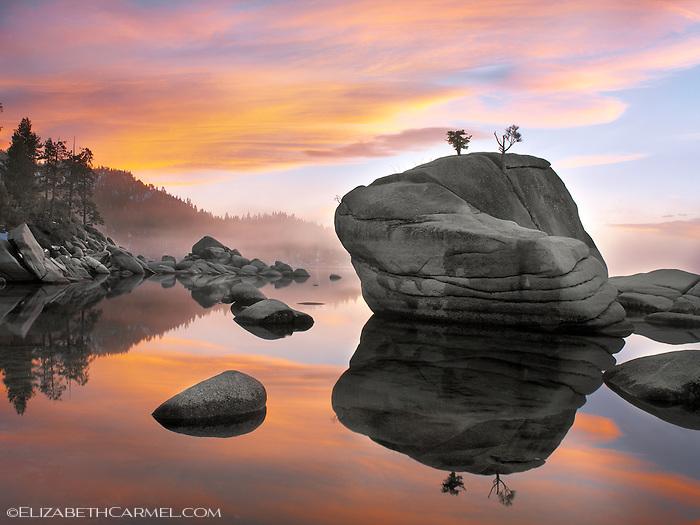Sunset, Bonsai Rock