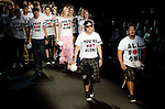 October 22nd, 2011: Tokyo, Japan – Designers and models walk down the catwalk wearing mastermind JAPAN during Mercedes-Benz Fashion Week Tokyo 2012 Spring/Summer. The Mercedes-Benz Fashion Week Tokyo runs from October 16-22. (Photo by Yumeto Yamazaki/AFLO)