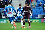League Santander 2017-2018 - Game: 22.<br /> RCD Espanyol vs FC Barcelona: 1-1.<br /> Jurado vs Coutinho.