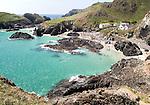 Coastal scenery, Kynance Cove, Lizard peninsula, Cornwall, England, UK