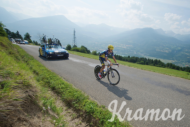 Alberto Contador (ESP) TT recon<br /> <br /> Tour de France 2013<br /> stage 17: ITT Embrun - Chorges 32km