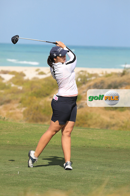 Valdis Thora Jonsdottir (ICL) during the second round of the Fatima Bint Mubarak Ladies Open played at Saadiyat Beach Golf Club, Abu Dhabi, UAE. 11/01/2019<br /> Picture: Golffile | Phil Inglis<br /> <br /> All photo usage must carry mandatory copyright credit (&copy; Golffile | Phil Inglis)