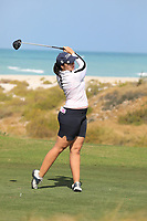 Valdis Thora Jonsdottir (ICL) during the second round of the Fatima Bint Mubarak Ladies Open played at Saadiyat Beach Golf Club, Abu Dhabi, UAE. 11/01/2019<br /> Picture: Golffile | Phil Inglis<br /> <br /> All photo usage must carry mandatory copyright credit (© Golffile | Phil Inglis)