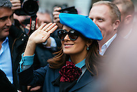 Salma Hayek at Milan Fashion Week (Photo by Hunter Abrams/Guest of a Guest)