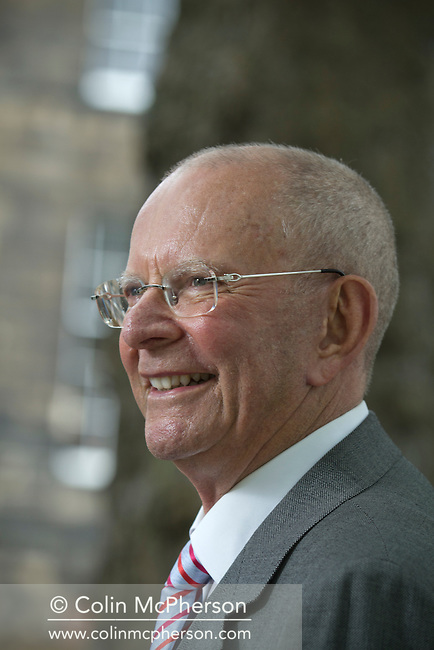 Rhodesian-born bestselling thriller writer Wilbur Smith, pictured at the Edinburgh International Book Festival where he talked about his latest book entitled 'Those in Peril'. The three-week event is the world's biggest literary festival and is held during the annual Edinburgh Festival. The 2012 event featured talks and presentations by more than 500 authors from around the world.