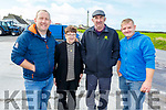 Liam Goggin, Noreen Lynch, William Goggin and Anthony Lynch attending the Ger Lynch Memorial vintage rally in aid of the Irish Heat Foundation on Sunday at the Hopper Inn in Causeway.