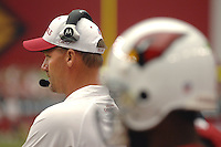 Aug 18, 2007; Glendale, AZ, USA; Arizona Cardinals head coach Ken Whisenhunt against the Houston Texans at University of Phoenix Stadium. Mandatory Credit: Mark J. Rebilas-US PRESSWIRE Copyright © 2007 Mark J. Rebilas