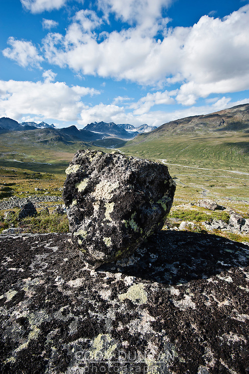 Mountain landscape above Memurudalen, Jotunheimen national park, Norway