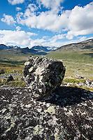 Mountain landscape above Memurudalen, Jotunheimen national park, Norway