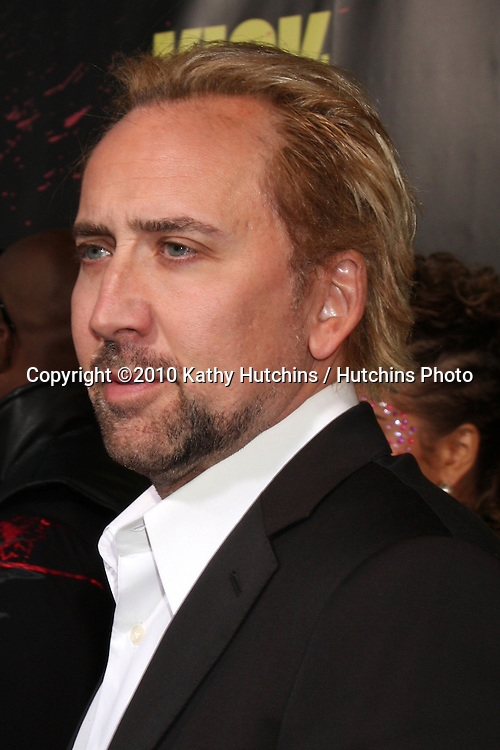 """Nicolas Cage.arrives at  the """"Kick-Ass"""" Premiere.ArcLight Dome Theater.Los Angeles, CA.April 13, 2010.©2010 Kathy Hutchins / Hutchins Photo..."""