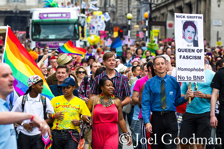 © Joel Goodman - 07973 332324 . 02/07/2011 . London , UK . Tens of thousands take part in the annual Pride march in London . Photo credit : Joel Goodman