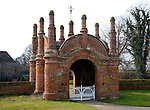 Built circa 1549 an unusual Tudor gatehouse. Erwarton Hall, Suffolk