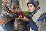 Zeinab El Hilawy (right), a lactation specialist from International Orthodox Christian Charities, a member of the ACT Alliance, counsels Maryam Ismael as she breast feeds her five-month old son Yasser in the community health center in Kab Elias, a town in Lebanon's Bekaa Valley which has filled with Syrian refugees. Ismael is a Syrian refugee, and difficulties with breast feeding have contributed to her son's malnutrition. Lebanon hosts some 1.5 million refugees from Syria, yet allows no large camps to be established. So refugees have moved into poor neighborhoods or established small informal settlements in border areas. International Orthodox Christian Charities provides support for the community clinic in Kab Elias, which serves many of the refugees.