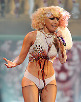 NEW YORK, NY- SEPTEMBER 13: Lady Gaga performs during the MTV Video Music Awards at Radio City Music Hall on September 13, 2009 in New York City. (Photo by Frank Micelotta/PictureGroup)