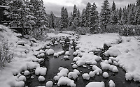 The first major storm of the winter transformed the Truckee River into this contrast of dark and light.