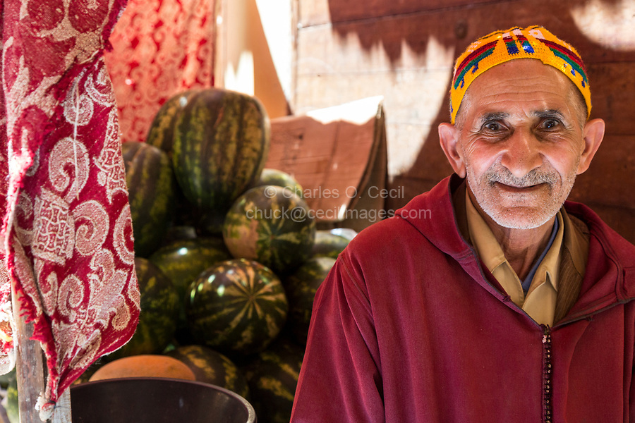 Fes, Morocco.  Watermelon Vendor in the Old City.