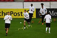 Niklas Süle (Deutschland Germany), Matthias Ginter (Deutschland Germany), Sandro Wagner (Deutschland Germany), Antonio Rüdiger (Deutschland Germany) - 07.10.2017: Abschlusstraining Deutschland, OPEL Arena Mainz